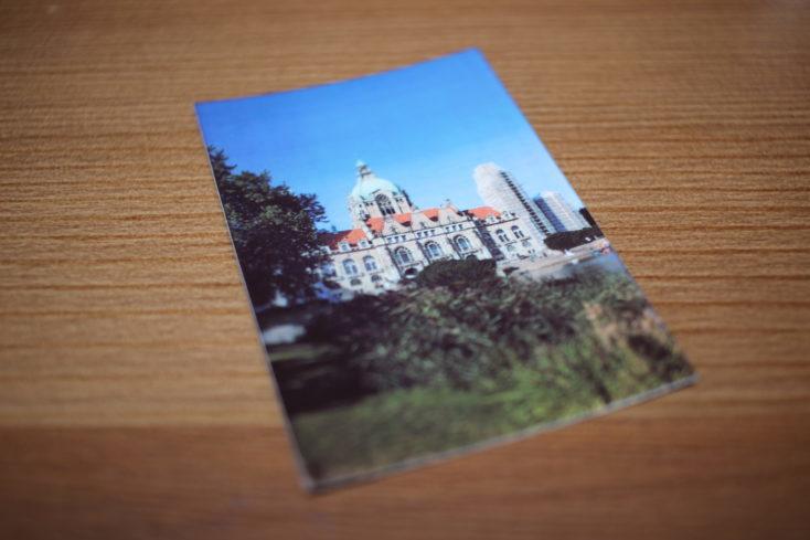 Foto de prueba de un castillo impresa con la impresora Huawei