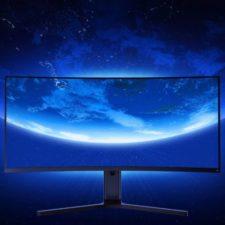 Diseño del monitor gaming con pantalla curva de Xiaomi