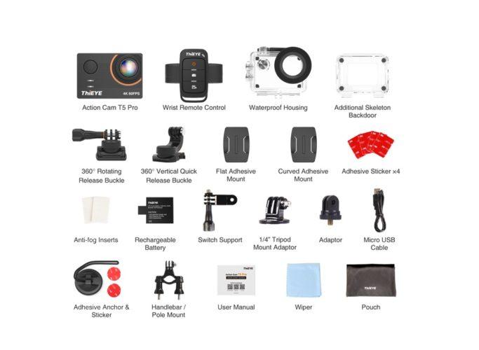 Accesorios de la ThiEYE T5 Pro