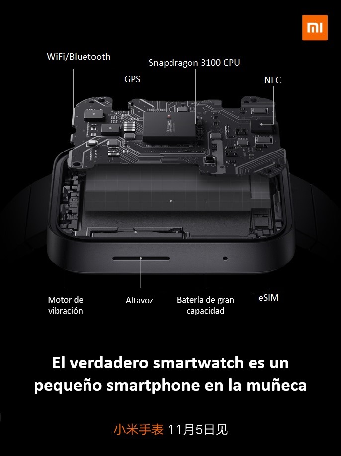 Especificaciones del Mi Watch