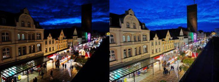 Fotos de prueba con el modo noche y el modo normal con el sensor normal