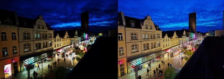 Fotos de prueba desde el tejado con el modo noche y modo normal con el sensor ultra gran angular