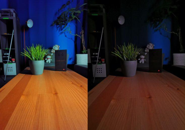 Foto de prueba con el sensor ultra gran angular en condiciones de poca luz