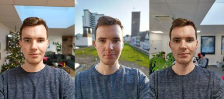 Selfies con el modo retrato de la cámara frontal