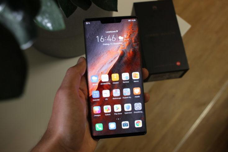 Diseño de la pantalla del Huawei Mate 30 Pro