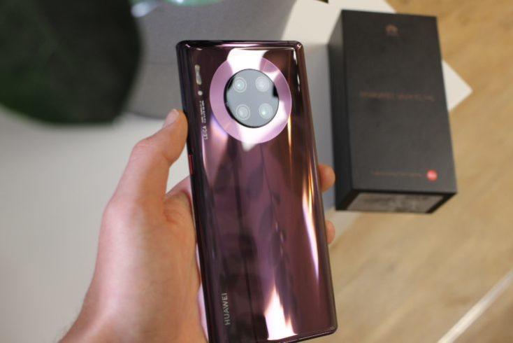 Parte postrior del Huawei Mate 30 Pro