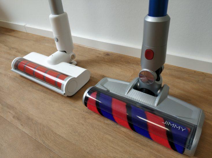 Rodillos de suelo de la Jimmy JV83 y la Roidmi F8