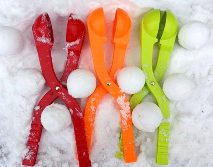 Pinzas para hacer bolas de nieve en distintos colores