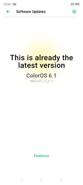 Actualización del software ColorOs 6.1