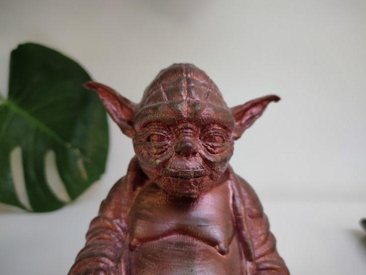 Foto de prueba de una impresión 3D de Yoda con el Realme X2 Pro