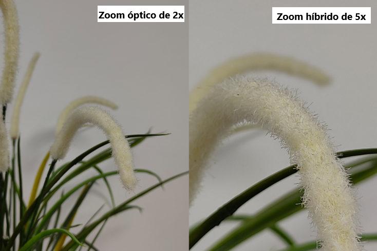 Fotos con el zoom óptico de 2x y el zoom híbrido de 5x