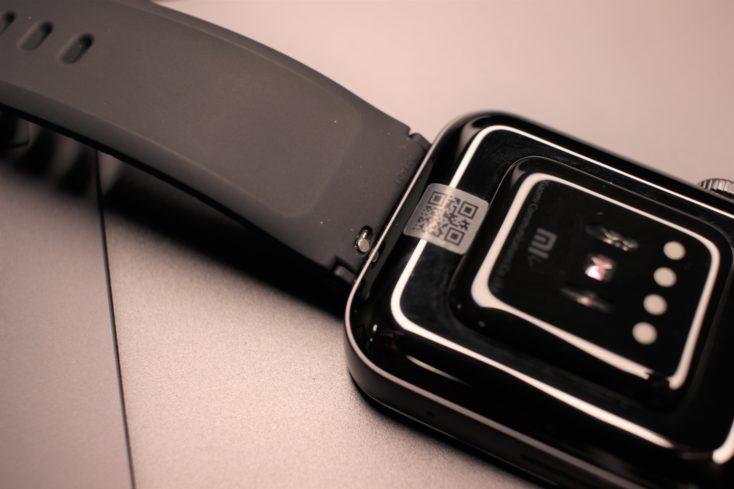 Parte de abajo del Xiaomi Mi Watch y la correa