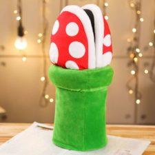 Zapatillas para casa de planta piraña en su pipa verde
