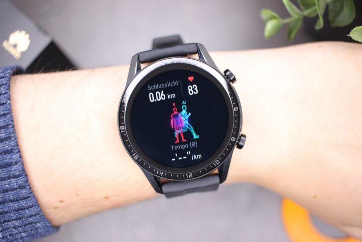 Contador de pasos y velocidad en el smartwatch Huawei Watch GT 2