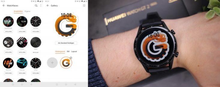 Diferentes esferas del smartwatch Huawei Watch GT 2