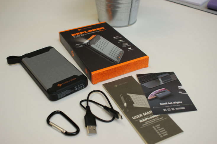 Accesorios incluidos con la Batería externa Novoo Explorer-Bateria externa Novoo Explorer