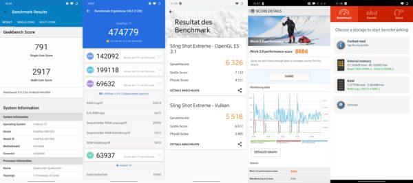 Resultados de los Benchmarks del OnePlus 7T