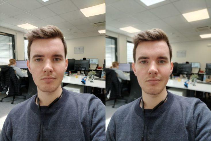 Selfie de prueba con la cámara frontal del OnePlus 7T
