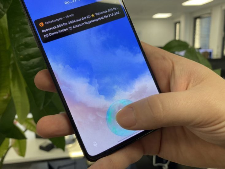 Sensor de huellas dactilares en pantalla del OnePlus 7T