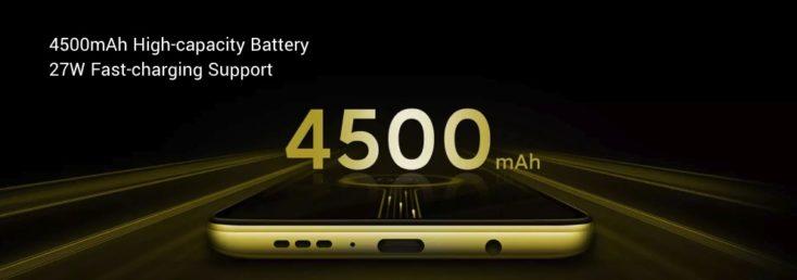 Batería de 4500 mAh del Pocophone X2
