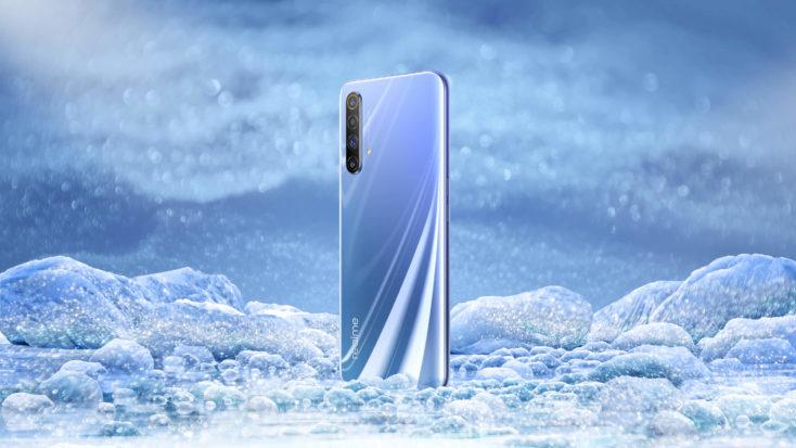 Realme X50 en azul glaciar
