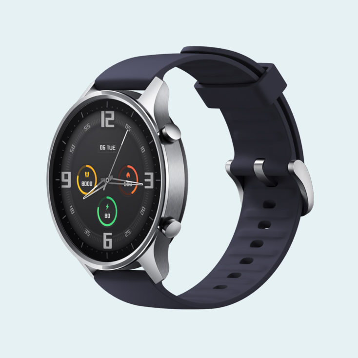 Diseño del Xiaomi Mi Watch color correa en gris