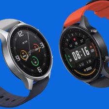 Xiaomi Mi Watch Color con dos combinaciones de correas distintas
