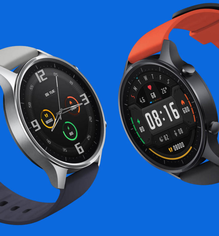Xiaomi Mi Watch Color con dos combinaciones de correas distintas