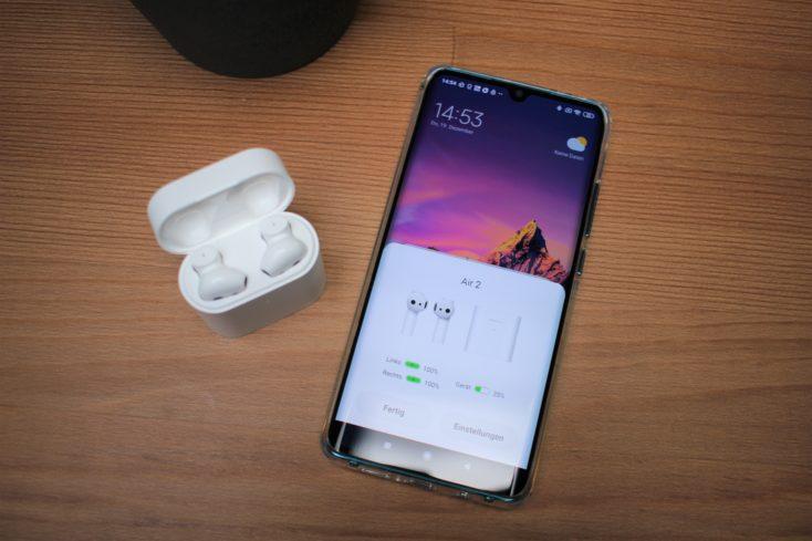 Smartphone vinculado con los Xiaomi Mi AirDots Pro 2