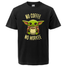 Baby Yoda Camiseta No Coffee No Workee-734x832