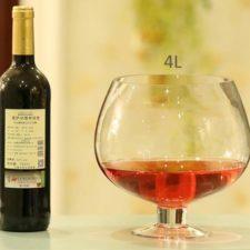 Copa de vino gigante con vino