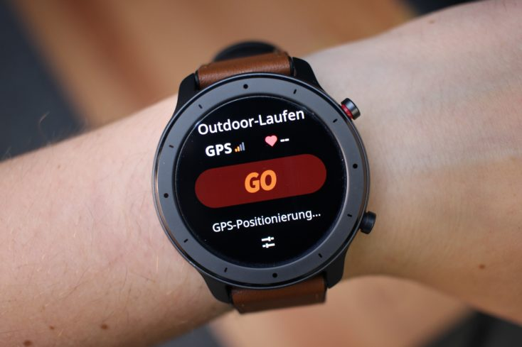 Posicionamiento del GPS antes de correr en el Distintos modelos del Huami Amazfit GTR
