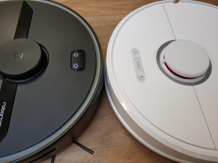 Diferentes botones de mando del Roborock S6 Pure y del Roborock S6