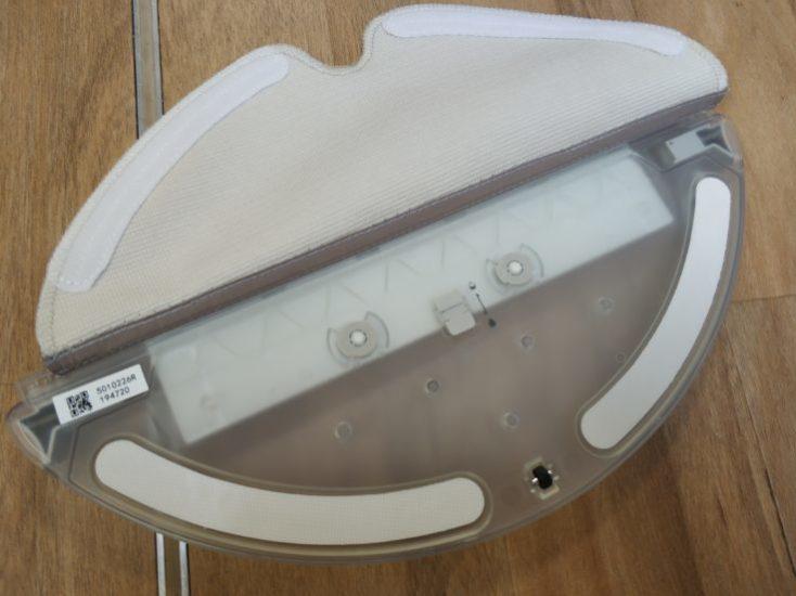 Depósito de agua del Roborock S6 Pure y la mopa