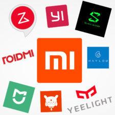 Logos de algunas marcas del ecosistema Xiaomi