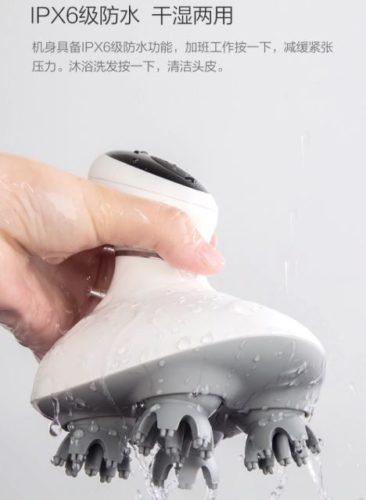 Mini masajeador de cabeza Xiaomi con calificación IPX6