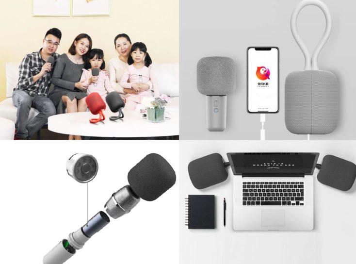 Diferentes fotos del uso del set de karaoke Xiaomi iK8