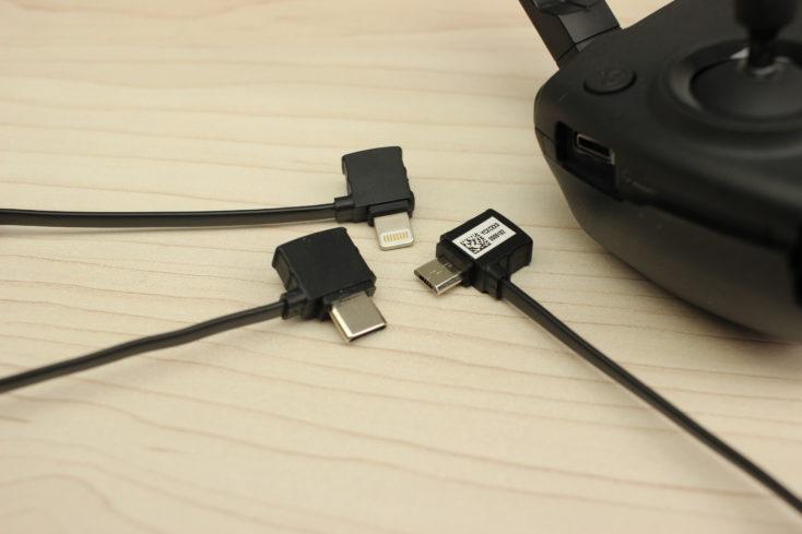 Cables para el mando del drone Mavic Mini de DJI