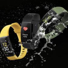pulsera de actividad Realme Band en diferentes colores y con agua