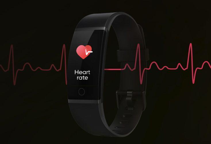 Frecuencia cardíaca en la pulsera de actividad Realme Band