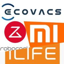 Logos de distintas marcas de robots aspiradores