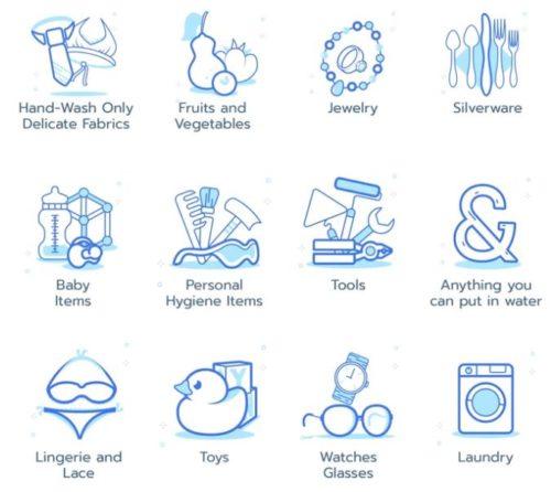 Lista de cosas que se pueden limpiar con el limpiador ultrasónico Ultrasona