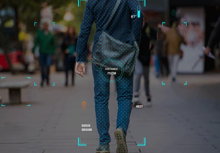 Imagen tomada de la cámara de la maleta de mano Xiaomi COWAROBOT R1