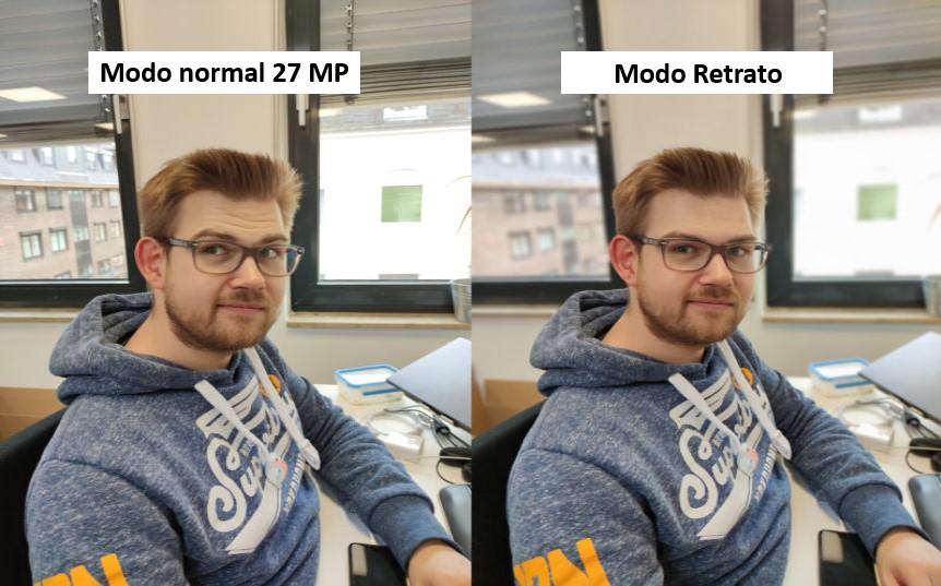 Foto de prueba de Tim con el modo normal y el modo retrato de la cámara principal del Xiaomi Mi 10