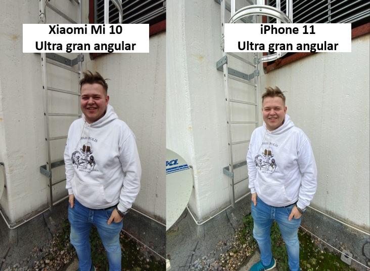 Foto de prueba de Lukas con el modo ultra gran angular de la cámara principal del Xiaomi Mi 10 y del iPhone 11
