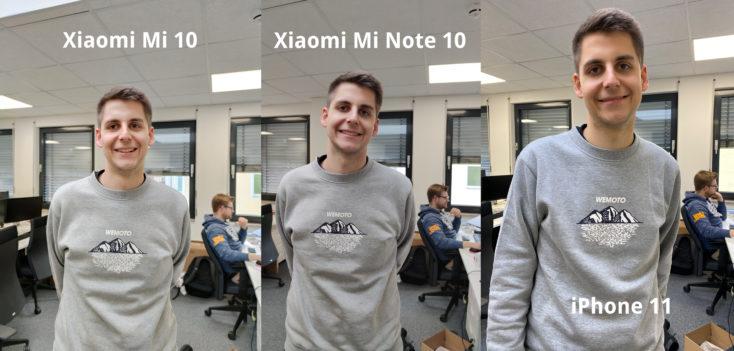 Foto de prueba de Thorben con la cámara principal del Xiaomi Mi 10, del Xiaomi Mi Note 10 y del Iphone 11