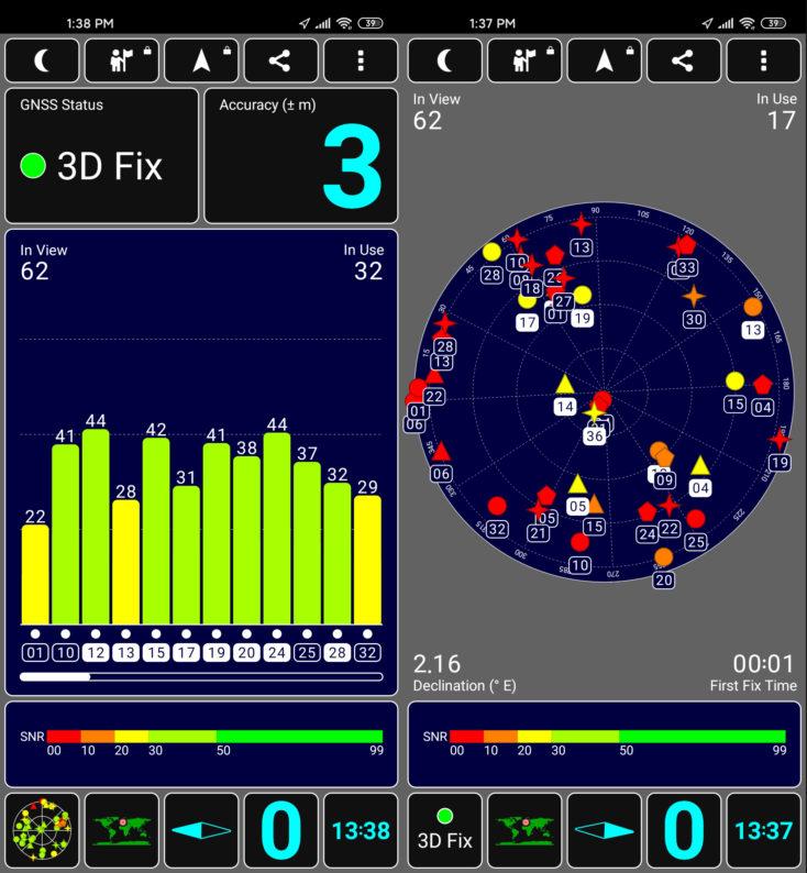 Posicionamiento del GPS en el Xiaomi Mi 10