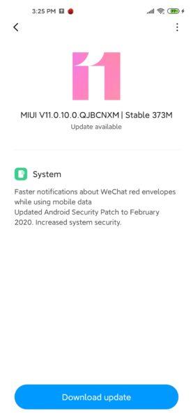 MIUI 11 en el Xiaomi Mi 10