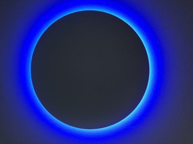 lámpara Yeelight YLXD50YL con luz azul