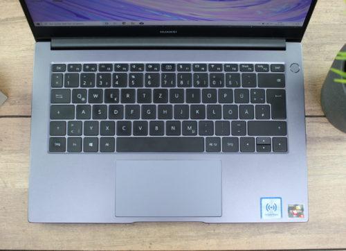 Teclado y Touchpad del Huawei MateBook D14 AMD 2020